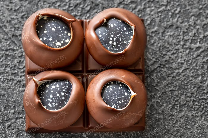 Handcrafted chocolate candies
