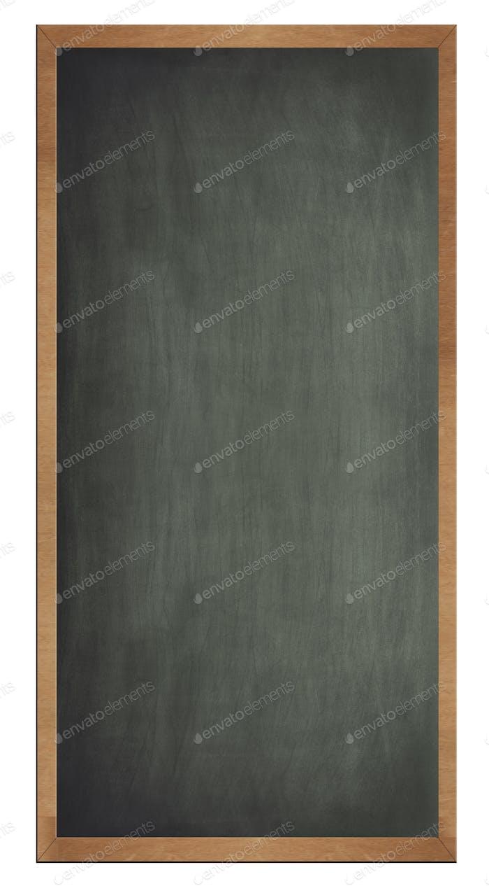 Blank old blackboard isolated