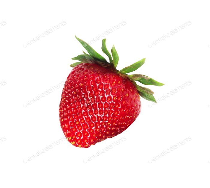 Red berry strawberry isolated on white