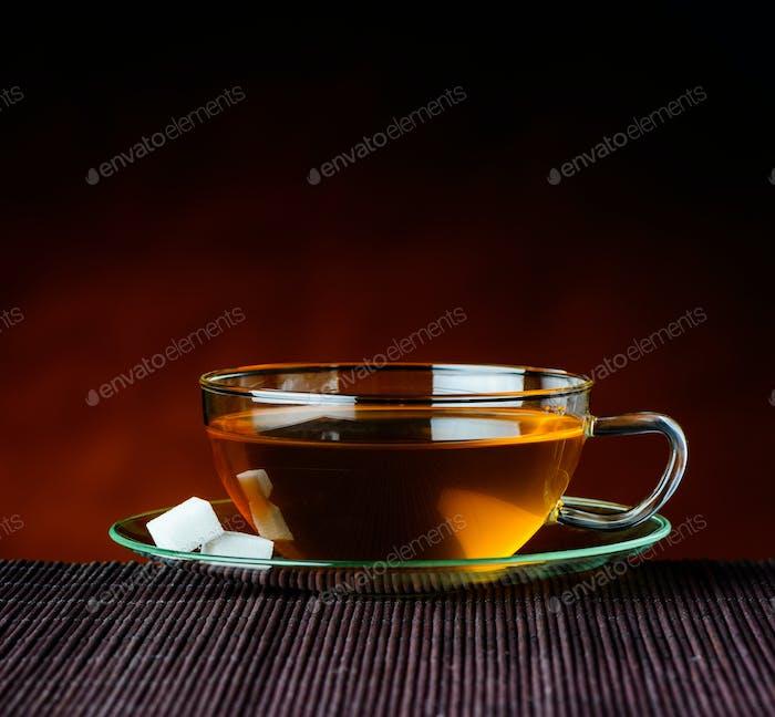Brown Tea in Cup
