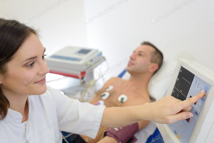 having cardiovascular examination