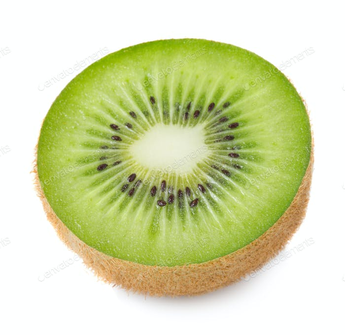 Kiwi half isolated on white background
