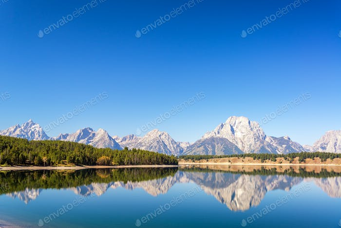 Mountain and Forest Reflection