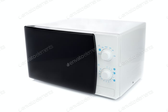 New microwave oven with analog control.