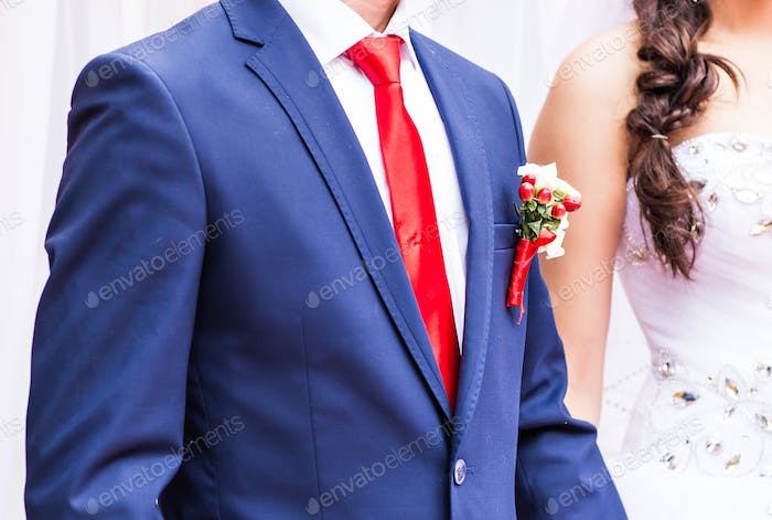 groom in the wedding suit