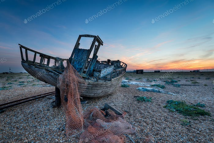 Altes Boot bei Dungeness