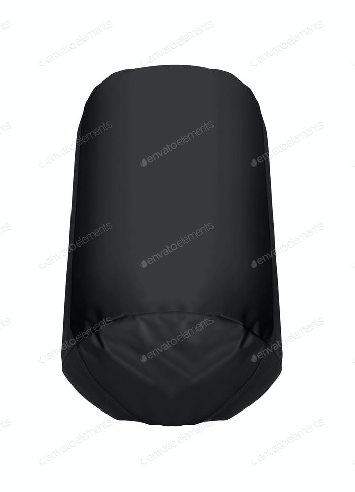 black Punching bag isolated