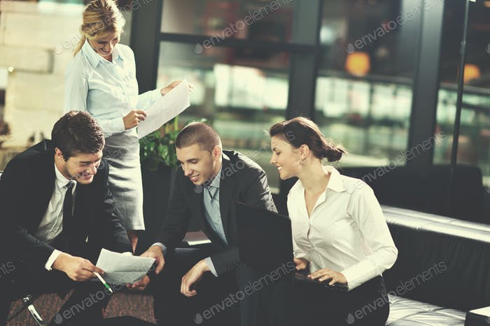 business people in a meeting at office