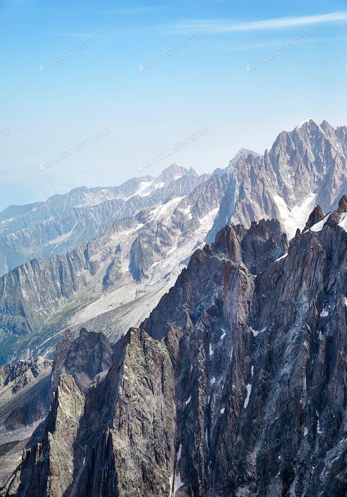Chamonix Mont Blanc Massif, Französische Alpen