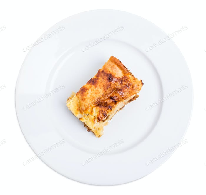 Baked pie with pork forcemeat.