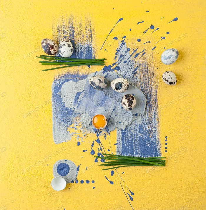 A combination of food shooting and drawing in the style of Conte
