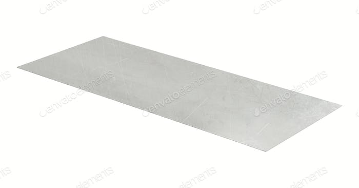 metal sheet isolated