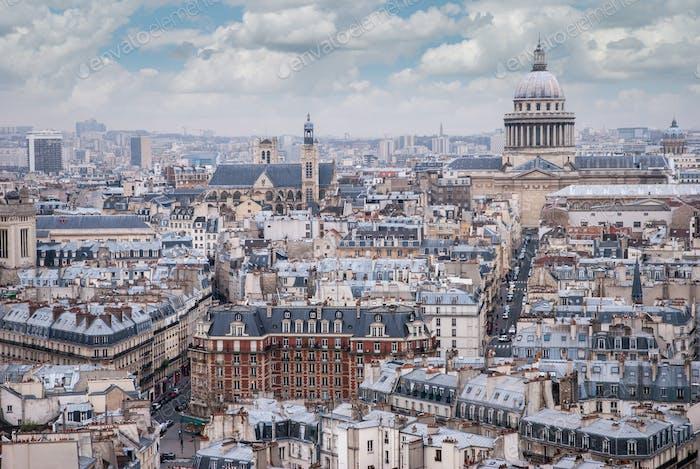 top view on Paris