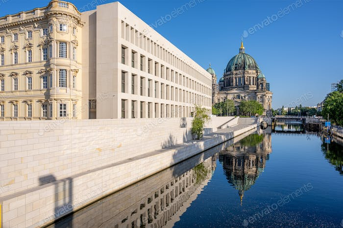 The Berliner Dom with the reconstructed City Palace