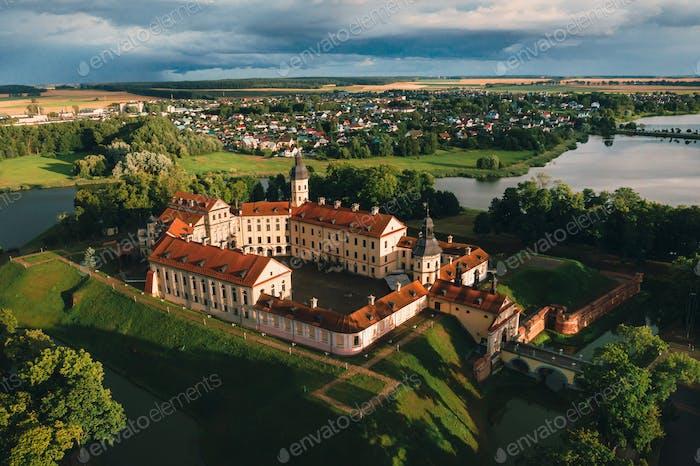 Mittelalterliche Burg in Nesvizh, Minsk Gebiet, Weißrussland.