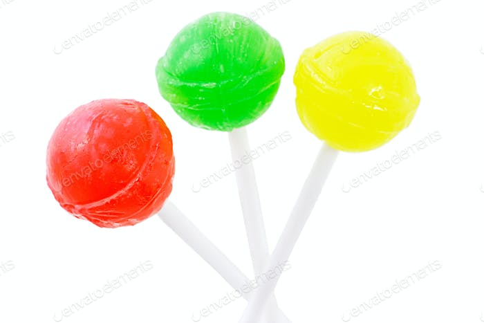 Three lollipops