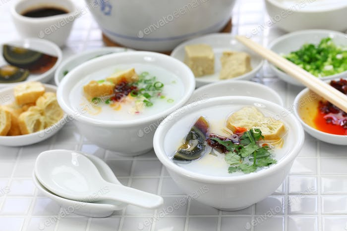 congee, chinese rice porridge