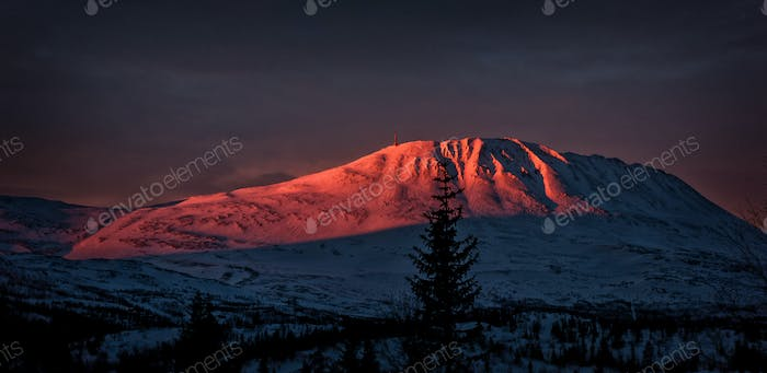 Sunrise on Gaustatoppen, Norway