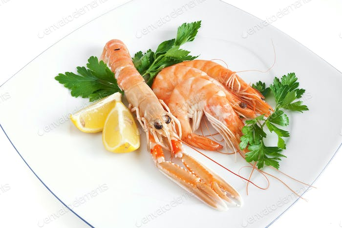 prawn and shrimps with parsley