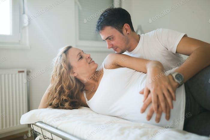 Couple expecting newborn baby