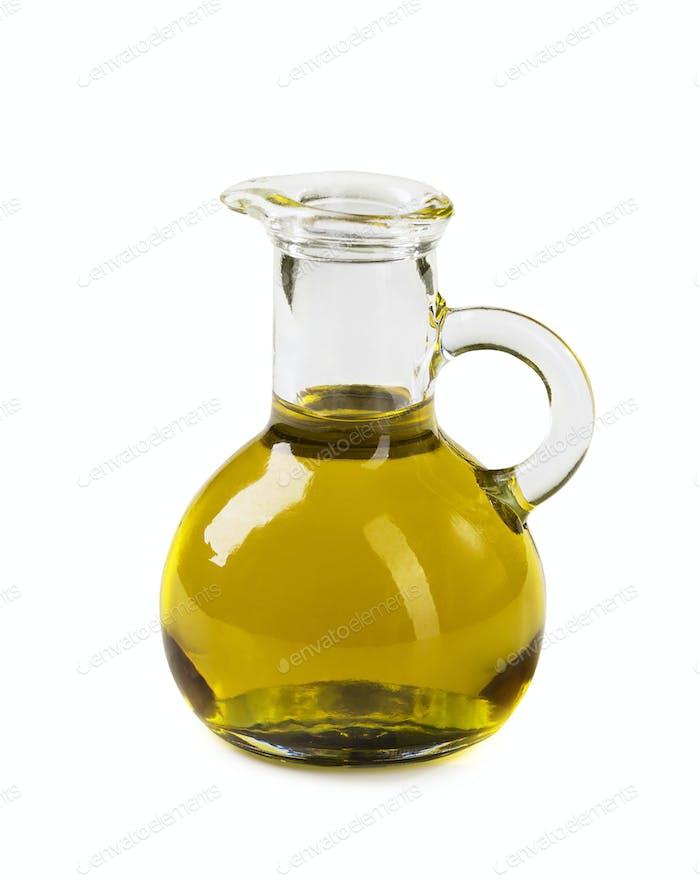 Pflanzenöl in einer Glaskaraffe