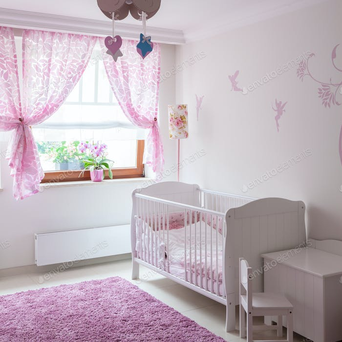Baby furniture in cute interior