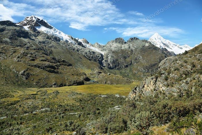 Mt Chopicalqui from Laguna 69 trail, Peru