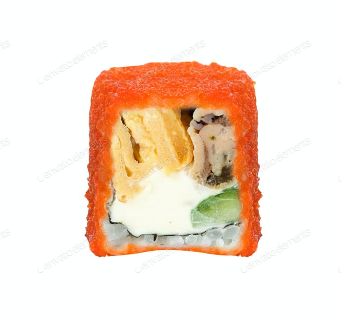 Sushi-Rolle isoliert