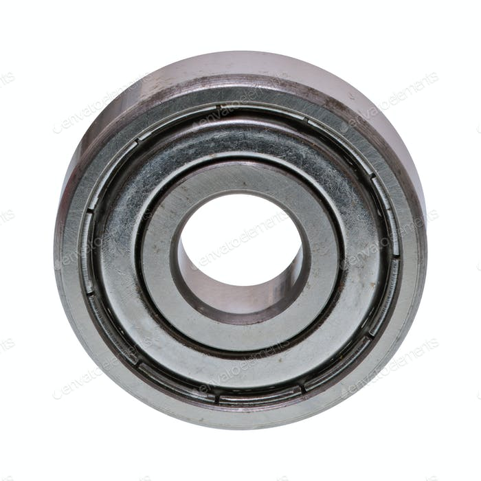 Ball bearing on a white background