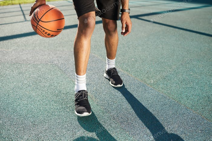 Legs of Basketball Player
