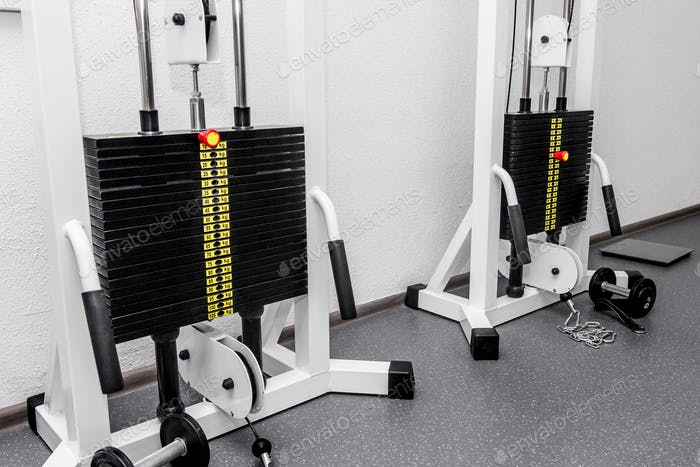 Rehabilitation equipment in therapy clinic
