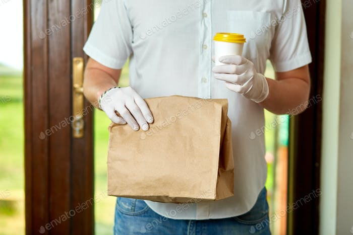 Delivery service under quarantine, disease outbreak, coronavirus