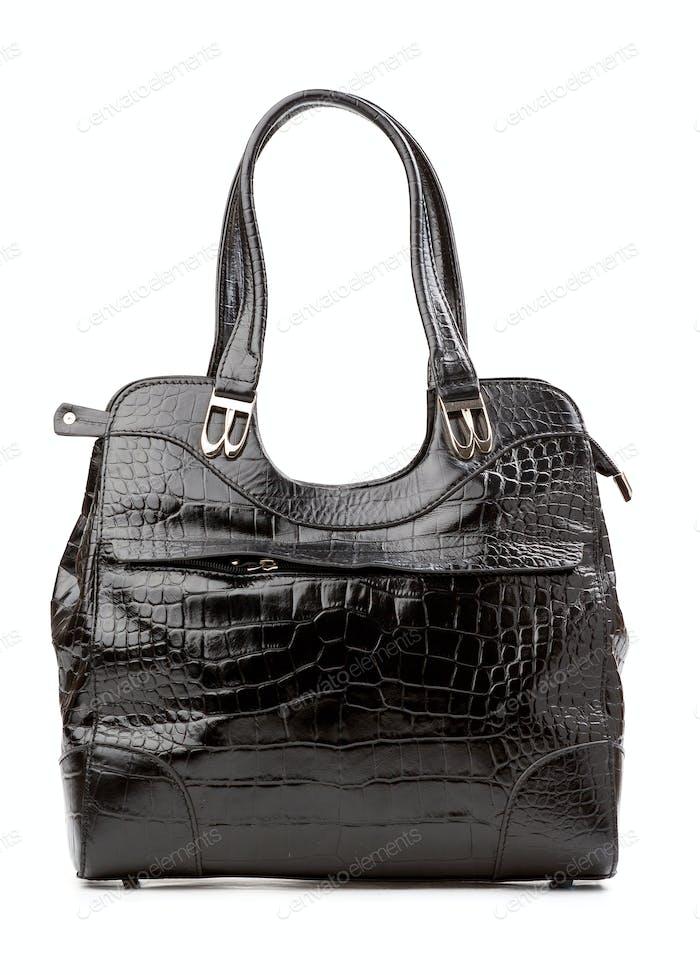 Black female bag over isolated over white