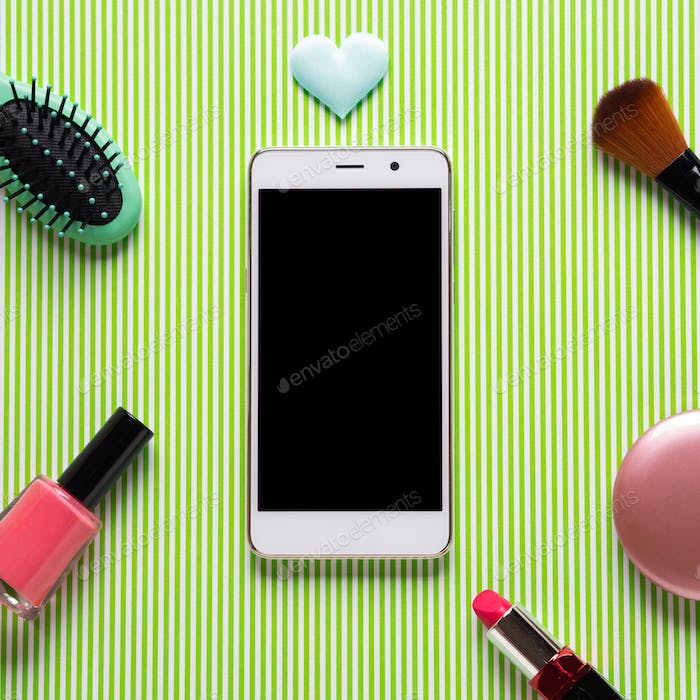 Smartphone screen and make up