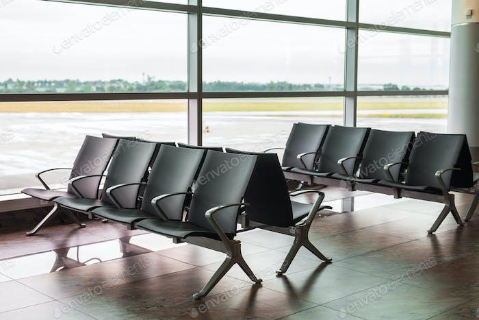 Asiento vacío en el aeropuerto