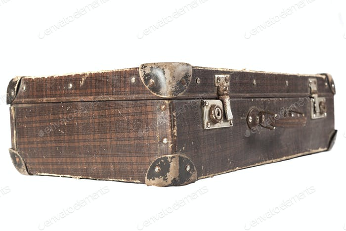 Used Brown suitcase