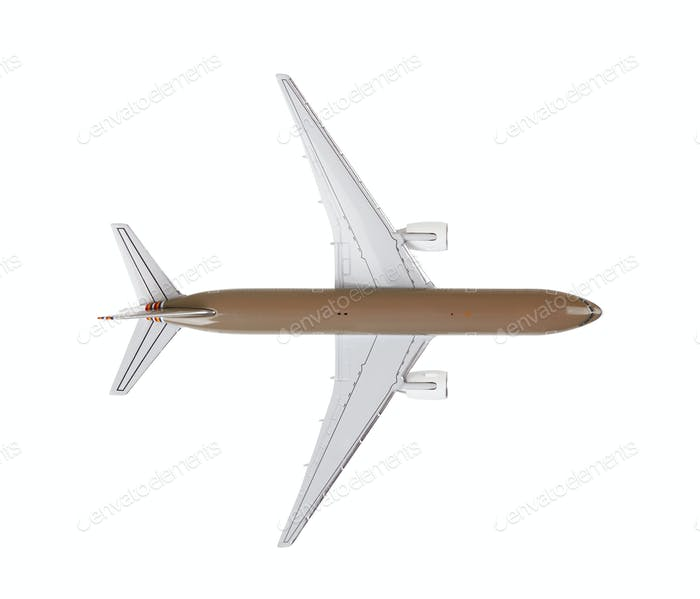 Toy airplane on white