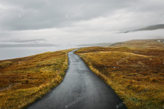 Road in Faroe Islands