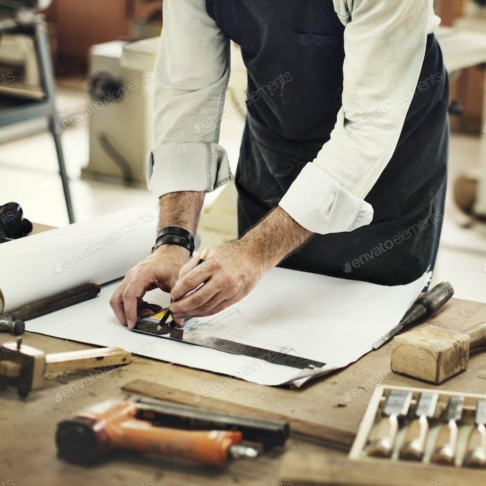 Handyman Occupation Craftsmanship Carpentry Concept