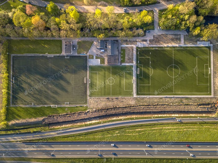 Soccer fields from above