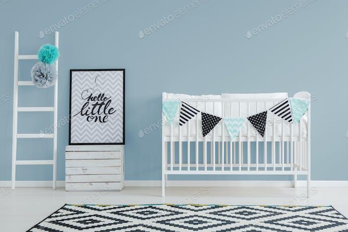 Stylish minimalist baby's bedroom