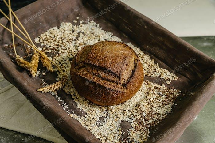 Still life of bread.