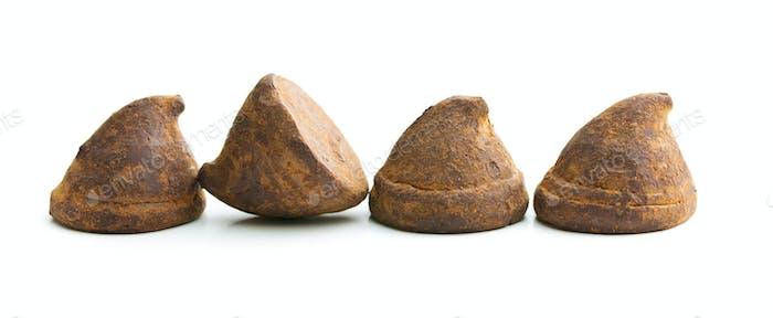 Sweet chocolate truffles.