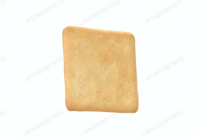 square cracker isolated on white background