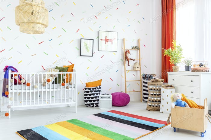Infant room in scandinavian style