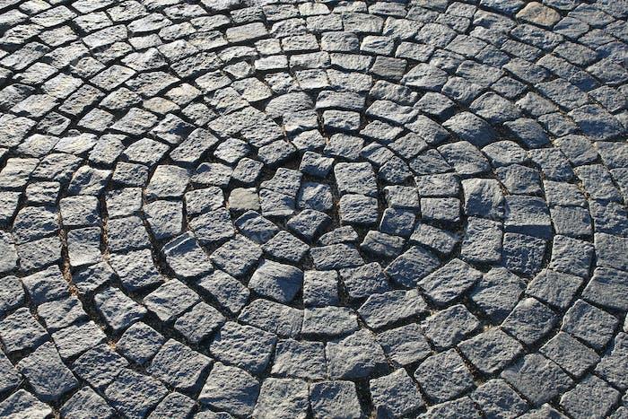Pflaster in Form eines Kreises