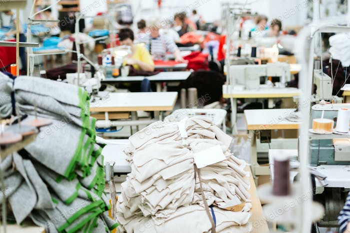 Sewing industry manufacturing