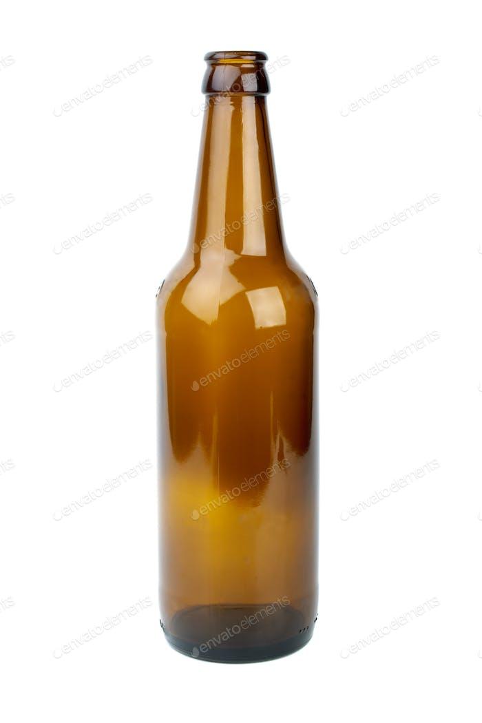 Leere braune Bierflasche