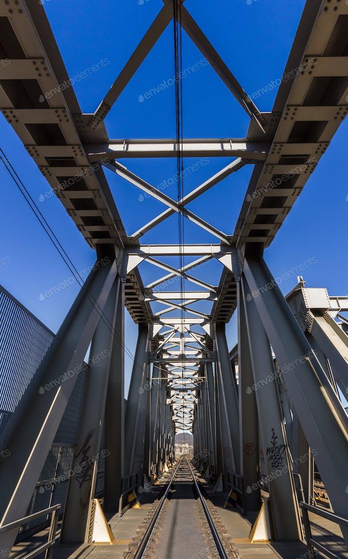 Railroad with bridge