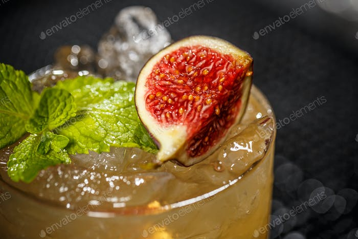 Cocktail with fig